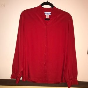 Pendleton classic Red long Sleeve Size 8